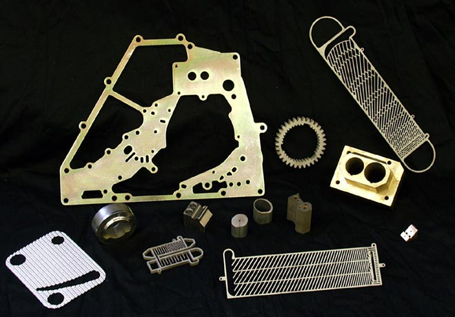 parts produced with our wire EDM services
