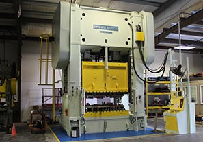 large stamping press, precision metal stamping, contract manufacturing services